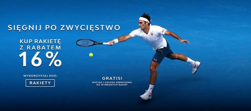 Rakiety tenisowe z rabatem 16%