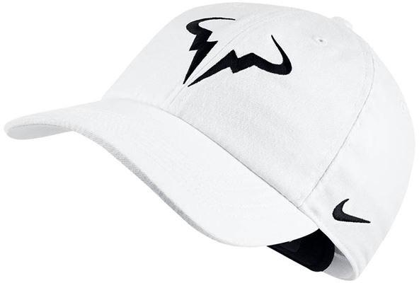 Kapa za tenis Nike Rafa U Aerobill H86 Cap - white/black