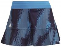 Ženska teniska suknja Adidas Tennis Printed Match Skirt Primeblue W - sonic aqua