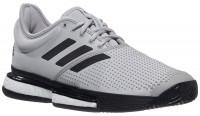 Męskie buty tenisowe Adidas SoleCourt M Primeblue - grey two/core black/cloud white