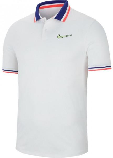 Polo marškinėliai vyrams Nike Court Slam Polo PS NT - white/ghost green