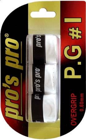 Viršutinės koto apvijos Pro's Pro P.G. 1 (3 vnt.) - white