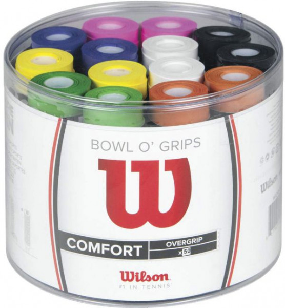 Tenisa overgripu Wilson Bowl O'Grips 50P - color