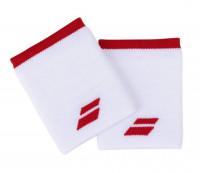 Babolat Logo Jumbo Wristband - white/fiesta red