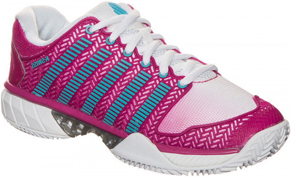 Damskie buty tenisowe K-Swiss Hypercourt Express Clay - white/very berry/bachelor/button