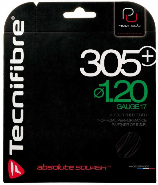 Naciąg do squasha Tecnifibre 305 Plus (9,7 m) - black