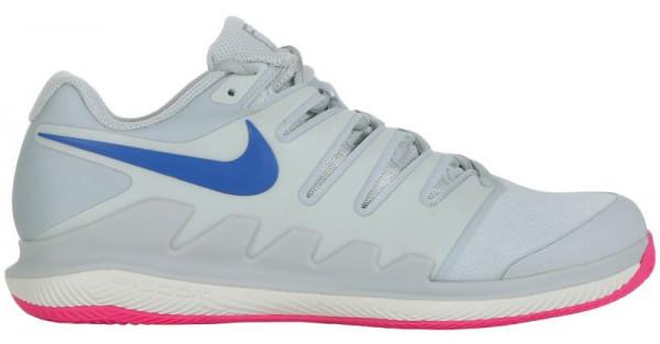 Damskie buty tenisowe Nike WMNS Air Zoom Vapor X Clay - pure platinum/racer blue