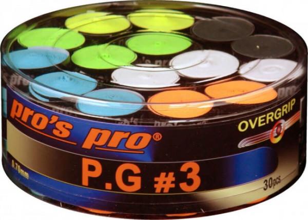 Owijki tenisowe Pro's Pro P.G. 3 (30 szt.) - color
