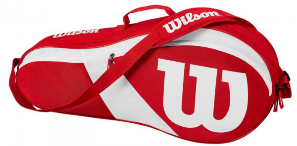 Wilson Match III 3 Pack Bag - red/white