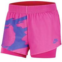 Damskie spodenki tenisowe Nike Court Slam Short NY - pink foil/sapphire