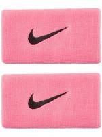 Nike Swoosh Double-Wide Wristbands - pink gaze/oil grey