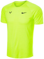 Męski T-Shirt Nike Court Rafa Aeroreact Top SS Slam - volt/black