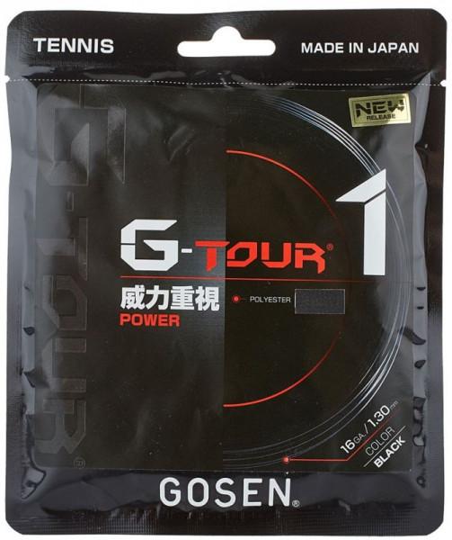 Tenisa stīgas Gosen G-Tour 1 (12.2 m) - black