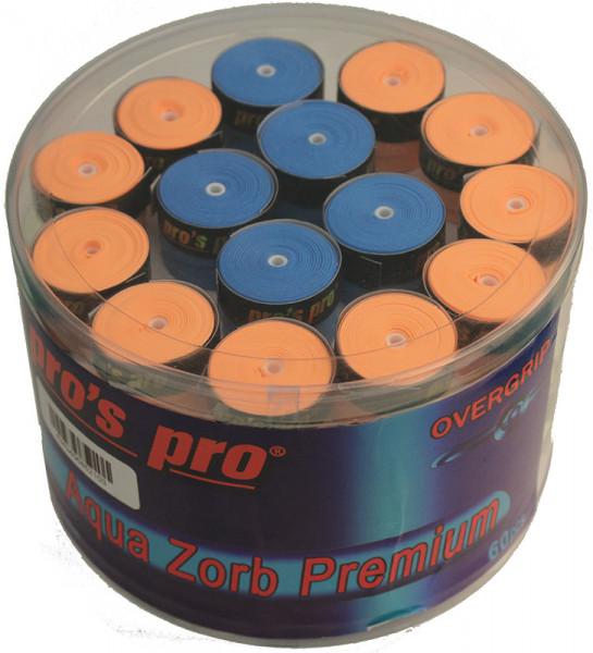 Owijki tenisowe Pro's Pro Aqua Zorb Premium 60P - color