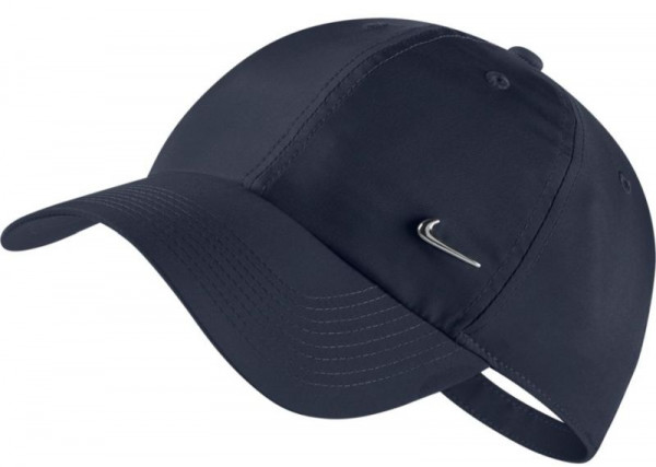 Tennisemüts Nike H86 Metal Swoosh Cap - obisidian/metallic silver