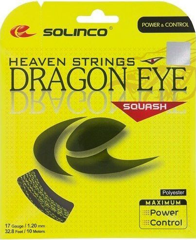 Naciąg do squasha Solinco Dragon Eye (10 m) - yellow/black