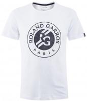 Męski T-Shirt Lacoste Roland Garros Tee - white