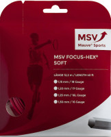 Tenisa stīgas MSV Focus Hex Soft (12 m) - red