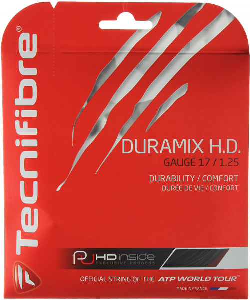 Teniso stygos Tecnifibre Duramix H.D. (12 m) - black