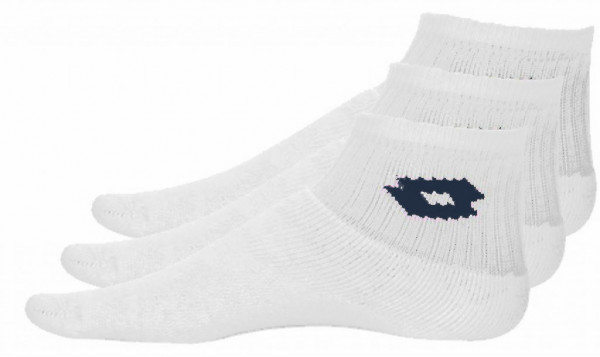 Skarpety tenisowe Lotto Sock Logo Tennis W (Quarter) - 3 pary/white
