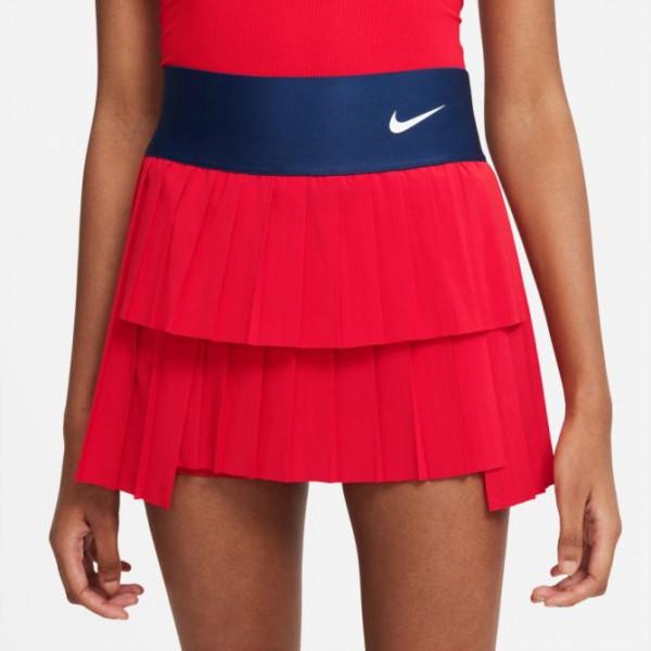 Teniso sijonas moterims Nike Court Dri-Fit Advantage Skirt Pleated W - university red/binary blue/white