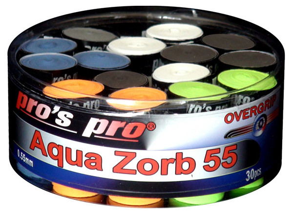 Owijki tenisowe Pro's Pro Aqua Zorb 30P - color