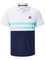 Męskie polo tenisowe Fila Polo Nelio M - white/peacoat blue