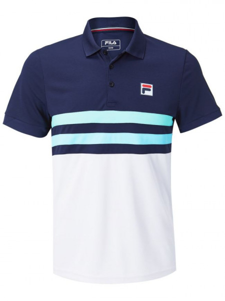 Męskie polo tenisowe Fila Polo Nelio M - peacoat blue/white