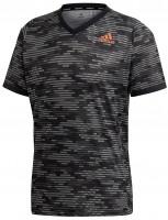 Teniso marškinėliai vyrams Adidas Freelift Primeblue Tee M - black/true orange