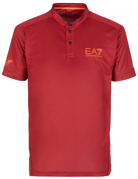 Polo marškinėliai vyrams EA7 Man Jersey Jumper - red dahlia