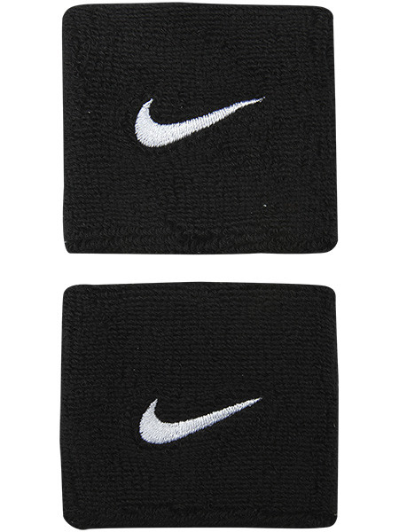 Riešo apvijos Nike Swoosh Wristbands - black/white