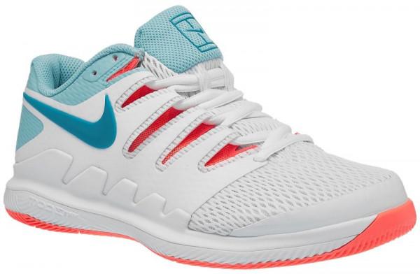 Damskie buty tenisowe Nike WMNS Air Zoom Vapor X - white/neo turquoise/bleached aqua/hot lava