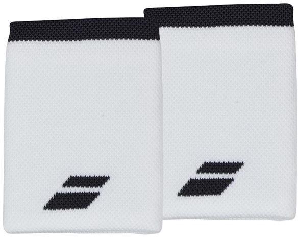 Riešo apvijos Babolat Logo Jumbo Wristband - white/rabbit