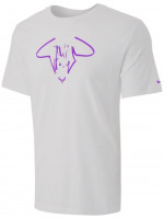 Męski T-Shirt Nike Court Rafa Tee Vamos M - football grey/wild berry