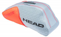 Tenis torba Head Radical 6R Combi - grey/orange