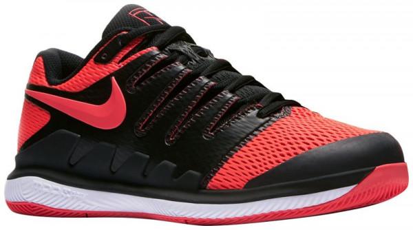 Damskie buty tenisowe Nike WMNS Zoom Vapor X HC - black/solar red/white