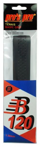 Owijki tenisowe bazowe Pro's Pro Basic Grip B 120 (1 szt.) - black