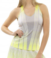 Damski top tenisowy Lucky in Love Nice To Pleat You Del 1 Pleat Don't Go Tank W - neon yellow