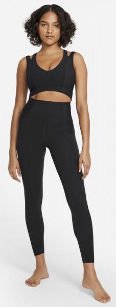 Naiste tennisetopp Nike Yoga Luxe Dri Fit Women's Infinalon Jumpsuit W - black/dark smoke grey