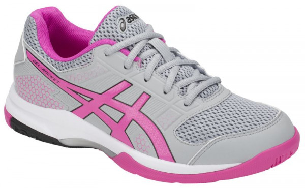 Buty do squasha Asics Gel-Rocket 8 W - mid grey/pink glo