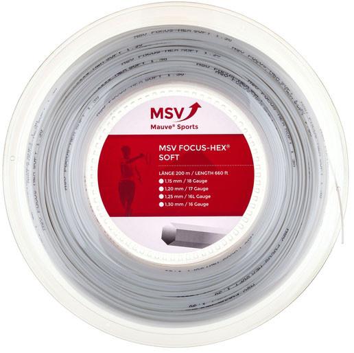 Teniso stygos MSV Focus Hex Soft (200 m) - white