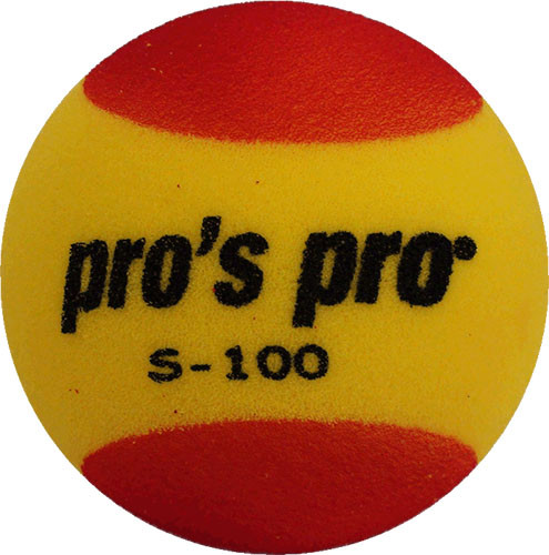 Juniorskie piłki tenisowe Pro's Pro Stage S-100 Yellow/Red 1B