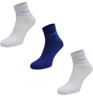 Socks Head Short Crew - 3 pary/cyan blue/white
