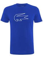 Męski T-Shirt Lacoste Men's  SPORT Novak Djokovic Crocodile Print T-shirt - blue/white
