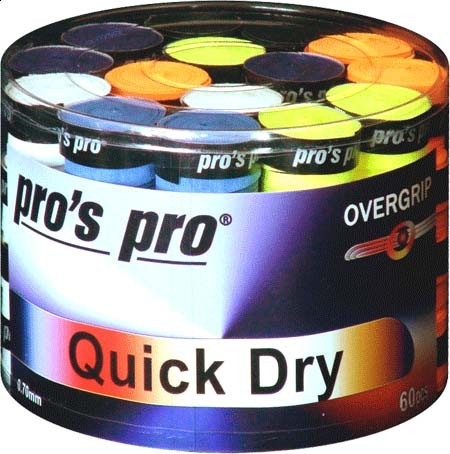Owijki tenisowe Pro's Pro Quick Dry New 60P - color