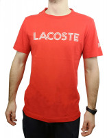 Męski T-Shirt Lacoste Novak Djokovic T-Shirt - red/white