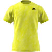 Adidas Freelift Printed Primeblue Tee M - acid yellow/wild pine/white