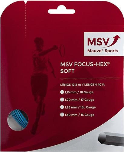 Teniso stygos MSV Focus Hex Soft (12 m) - sky blue
