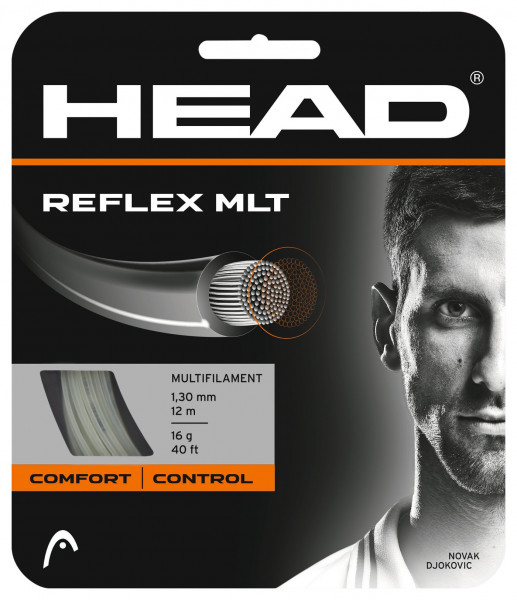 Tennisekeeled Head Reflex MLT 1,30 mm (12 m) - natural (Soovitame)