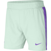 Męskie spodenki tenisowe Nike Court Rafa Short 7in - barely green/bright mango